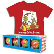 Dr. Seuss Merry Grinchmas Infant T-Shirt with Free Ornament Set