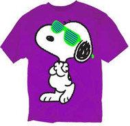 SNOOPY WITH SLOTTED SUNGLASSES MENS TEE SHIRT
