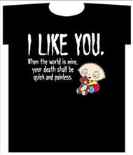 THE FAMILY GUY I LIKE YOU MENS TEE SHIRT