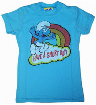 Smurfs Have a Smurf Day Girls T-Shirt by Junk Food Clothing