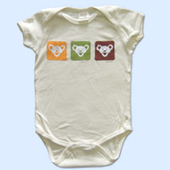 GRATEFUL DEAD Natural Organic Cotton 12 & 18 Month Romper with Bear