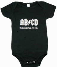 AB/CD Black Baby Bodysuit