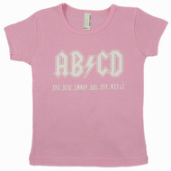 AB/CD Pink Short Sleeve Kids T-Shirt