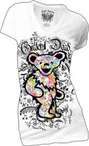 GRATEFUL DEAD JUNIORS V-NECK BEAR HIGH FASHION T-SHiRT