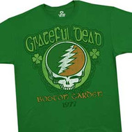 Grateful Dead Steal Your Face Boston Garden Shamrock Mens T-Shirt