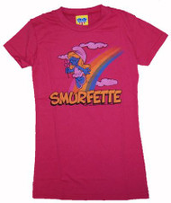 Smurfs Smurfette Rainbow Girls T-Shirt by Junk Food Clothing