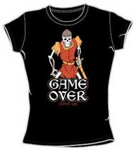 Dragons Lair Game Over Juniors Vintage Style T-Shirt