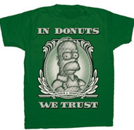 THE SIMPSONS IN DONUTS WE TRUST MENS T SHIRT
