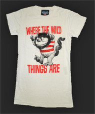Where the Wild Things Are Girly Tee Shirt in Electric White by Junk Food Clothing