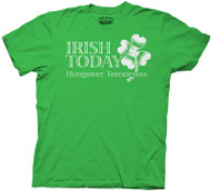 Irish Today Hungover Tomorrow Mens Tee Shirt
