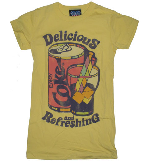 Cool Junk Food T-Shirt with Retro Coke ad.