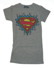 Cool Junk Food T-Shirt with Superman logo