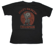Funny Mens Junk Food T-Shirt that features Pig Pen from Peanuts and says Dirty Dancing Champion