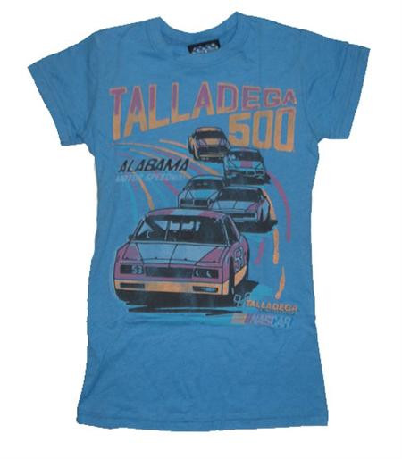 Cool Junk Food NASCAR Womens T-Shirt featuring the Talladega 500.