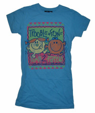 Little Miss Trouble and Little Miss Fun together on a cool Junk Food Tee