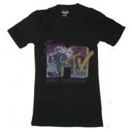 V-Neck MTV T-Shirt by Junk Food Clothing - Spring Break Tee Shirt