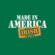 Made in America with Irish Parts t-shirt