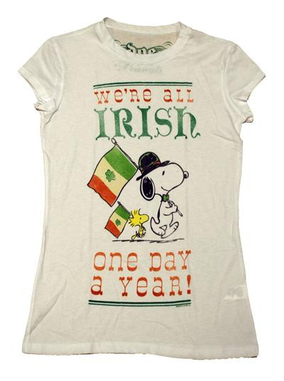 Snoopy Irish T-Shirt