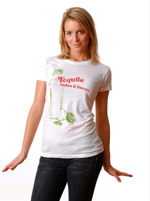Tequila makes it sweeta t-shirt by Crooked Monkey