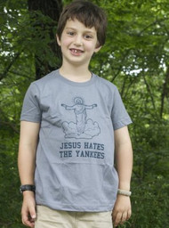 Jesus Hates the Yankees Toddler Tee Shirt