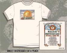 The Allman Brothers Distressed Eat A Peach Tee Shirt