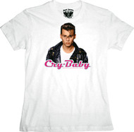 Cry Baby Baby Face Juniors Tee Shirt