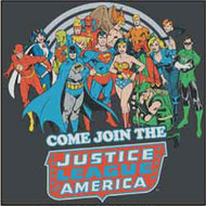 DC Comics Justice Leagure Come Join Us Juniors Tee Shirt