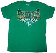 Boston Celtics Mens Vintage Style T-Shirt by Mighty Fine