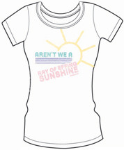 DAVID & GOLIATH ARENT WE A RAY OF EFFIN SUNSHINE VINTAGE STYLE JUNIORS TEE SHIRT