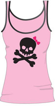 DAVID & GOLIATH Skully Juniors Beater Tank Top