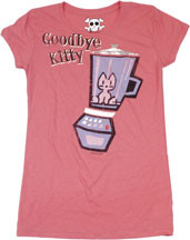 DAVID & GOLIATH GOODBYE KITTY VINTAGE STYLE JUNIORS TEE SHIRT