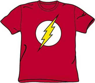 DC Comics The Flash Silver Outline Logo Mens Tee Shirt