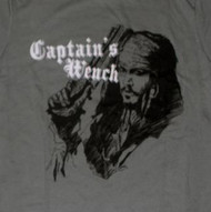 Mighty Fine Pirates of the Caribbean Johnny Depp Captain's Wench Juniors Tee Shirt