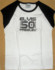 Elvis Presley 50 Years of Rock N Roll Juniors Tee Shirt