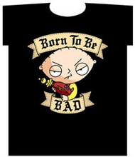 The Family Guy Stewie Born To Be Bad Mens Tee Shirt