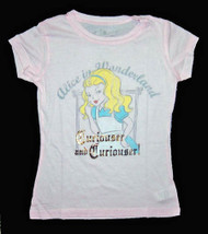 Alice in Wonderland Curiouser & Curiouser Vintage Style Girls Tee Shirt