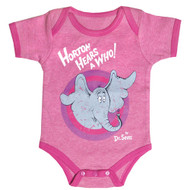 Dr. Seuss Horton Hears A Who Pink Vintage Baby Bodysuit