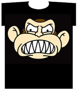The Family Guy Monkey Face Mens Tee Shirt
