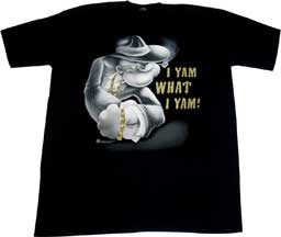 POPEYE I YAM WHAT I YAM URBAN TEE SHIRT WITH GOLD BLING