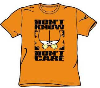 Garfield Don't Know Don't Care Mens T-Shirt