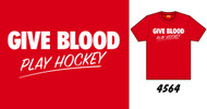 Give Blood Play Hockey Mens Tee Shirt