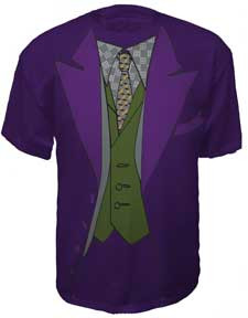 BATMAN THE JOKER TUXEDO MENS TEE SHIRT