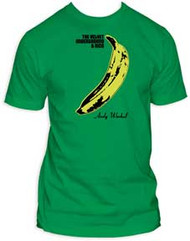 VELVET UNDERGROUND GREEN BANANA FITTED JERSEY TEE SHIRT