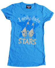 Junk Food I Only Date Stars Girly Tee Shirt
