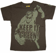 Junk Food DC Comics Green Lantern Keep it Green Boys Tee Shirt
