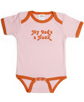 Urban Smalls My Dad's a Hunk Pink Infant Bodysuit