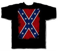 Distressed Confederate Flag Mens Tee Shirt