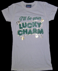 Junk Food I'll Be Your Lucky Charm St. Patricks's Day Juniors Tee Shirt