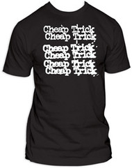 CHEAP TRICK LOGO IN WHITE MENS TEE SHIRT