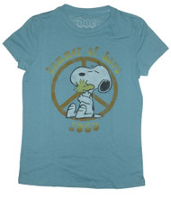 Peanuts Snoopy Summer of Love Vintage Juniors Tee Shirt by Doe Mighty Fine